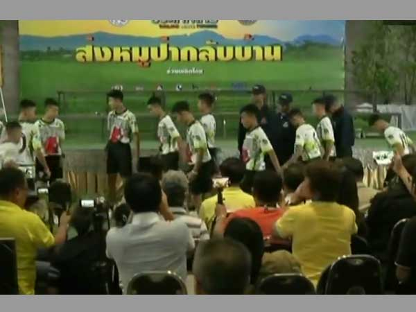 Thailand: Football boys, who had a heroic escape from cave, leaves hospital