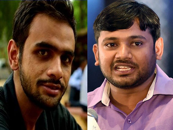 Umar Khalid and Kanhaiya Kumar