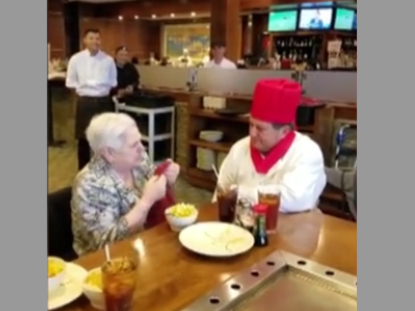 Video: Who did the ailing woman see at her birthday party and was left speechless?