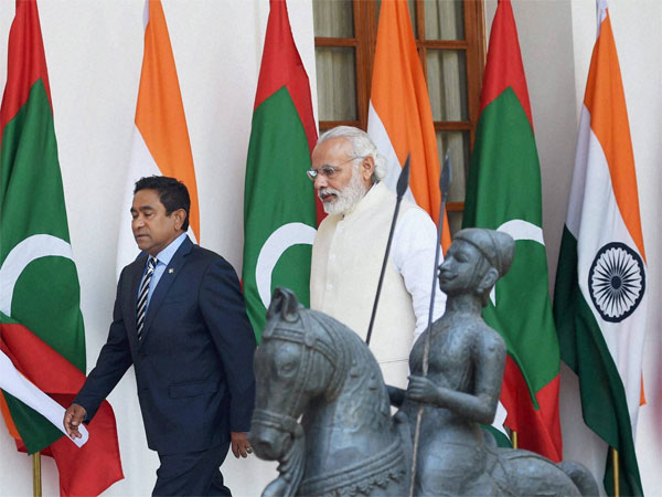 Prime Minister Narendra Modi with President of Maldives Abdulla Yameen Abdul Gayoom