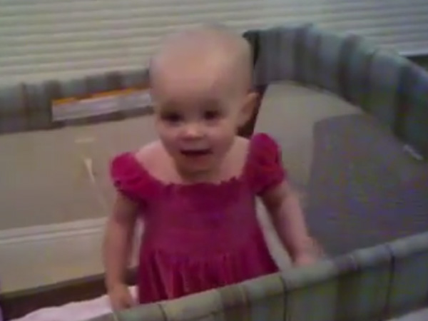 This baby girl will not sleep and she is refusing her mom in most funny way possible