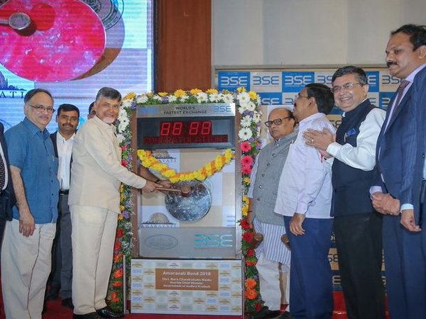Chandrababu Naidu at BSE