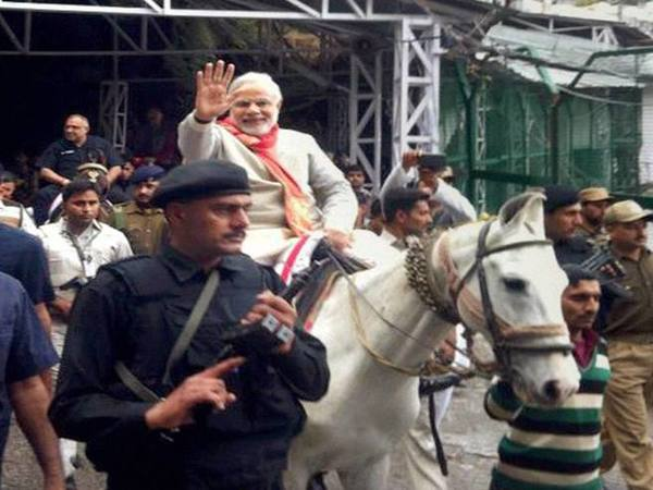 PM Modi rides on pony