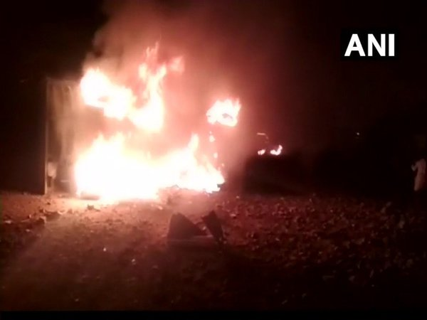 Blast at a stone quarry in Kurnool leaves 9 dead (Image courtesy - ANI/Twitter)