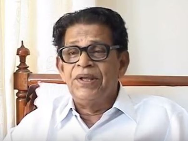 Noted Malayalam poet and Sahitya Akademi awardee Chemmanam Chacko