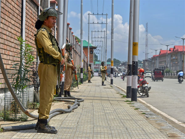 CRPF personnel stand guard at the Civil Secretariat in Srinagar. PTI file photo