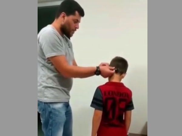 'I can hear papa!' This deaf boy suddenly discovers he can hear