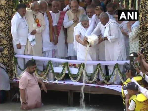 Uttarakhand: Atal Bihari Vajpayees ashes immersed in Har-Ki-Pauri in Haridwar