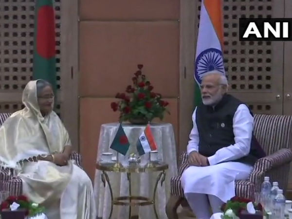Modi meets Bangladesh PM in Nepal, discusses bilateral ties