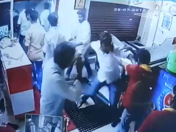 Refused biriyani after closing hours, DMK members beat up eatery staff members; 2 suspended