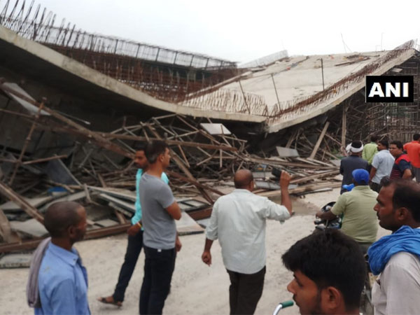 Uttar Pradesh: Lintel of flyover collapses in Basti, 4 injured
