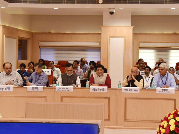 The 29th Goods and Services Tax council meeting headed by Union Finance Minister Piyush Goyal. Courtesy: @askGST_GoI