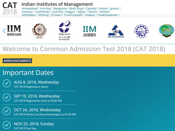 IIM CAT 2018: Important dates, fee structure and how to register