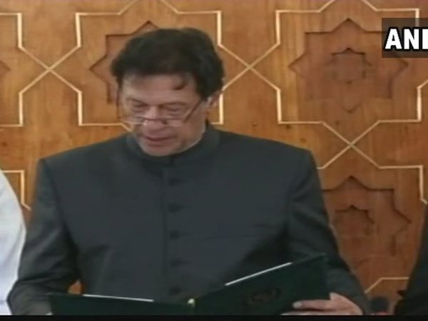Imran Khan takes oath as 22nd Prime Minister of Pakistan. Courtesy: ANI