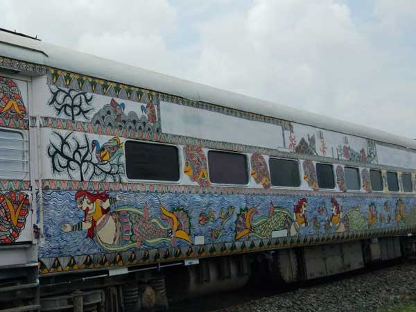 Maithili art on trains