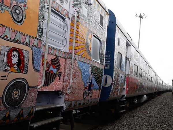 Bihar Sampath Kranti Bogies get colourful makeover with Mithila art