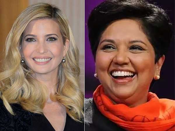 Ivanka Trump thanks  the great  Indra Nooyi for being a mentor and ... 3a94e37e0