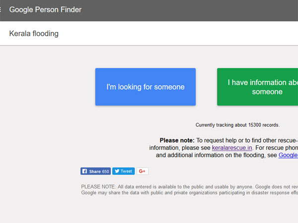 kerala floods google launches person finder application
