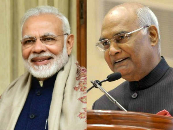 File photo of PM Narendra Modi and President Ram Nath Kovind