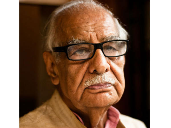 Veteran Journalist Kuldeep Nayyar. Photo credit: ANI