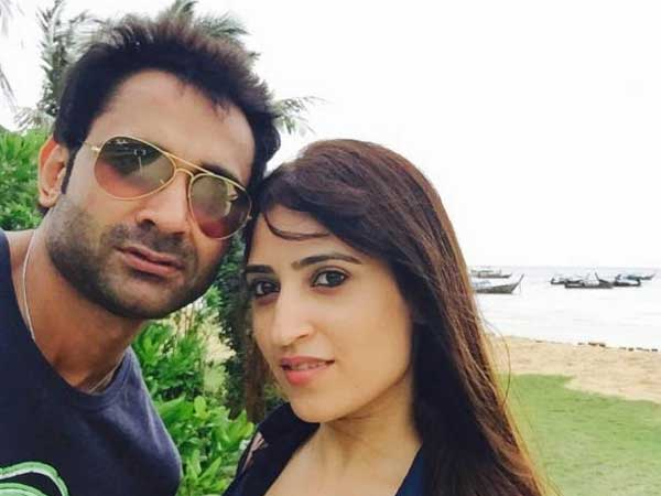 File photo of Air-hostess Anissia along with her husband Mayank Singhvi