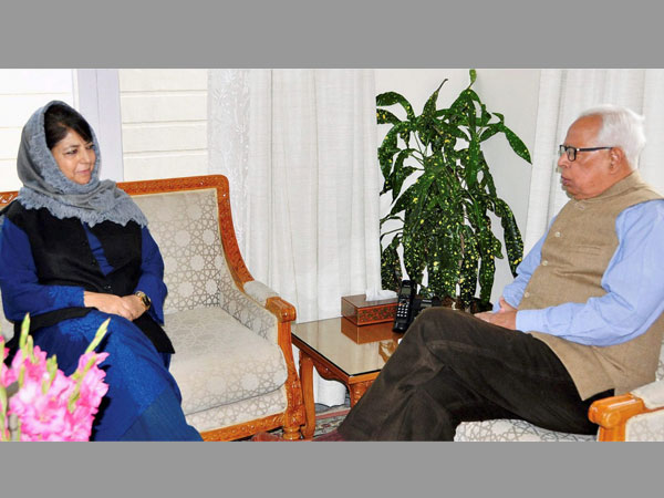 Mehbooba discusses upcoming local body polls with J&K Governor