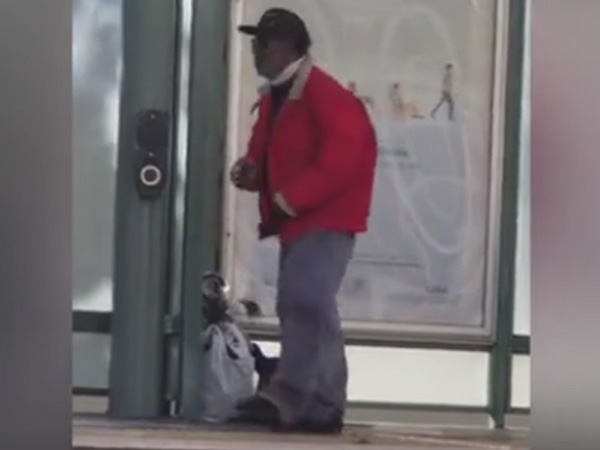 What's 'Michael Jackson' doing on the station platform in this hilarious video?