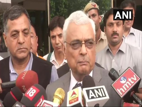 CEC OP Rawat speaking to the media after an all-party meeting (Image courtesy - ANI/Twitter)