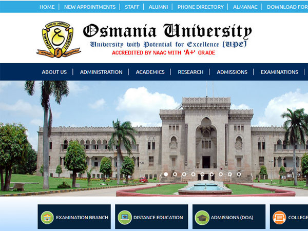 Osmania University UG degree result 2018 date, how to check results