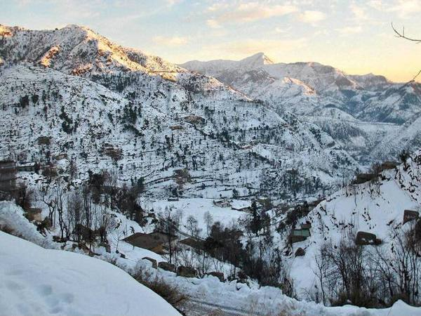 A view of snow covered Pir Panjal Ranges in Jammu Kashmir. PTI file photo