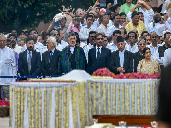 SAARC leaders including Pakistan attend Vajpayees funeral. Photo credit: PTI