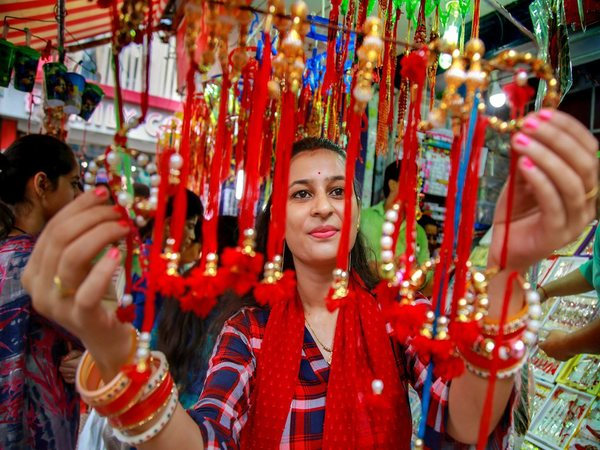 Rakhi shop in Jammu