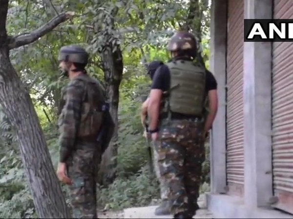 4 militants gunned down in Shopians Killora village. Courtesy. ANI news