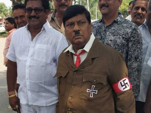 Monsoon Session 2018: TDP MP dresses up as Adolf Hitler