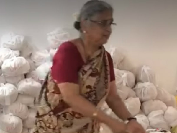 Sudha lends a helping hand to flood-affected people