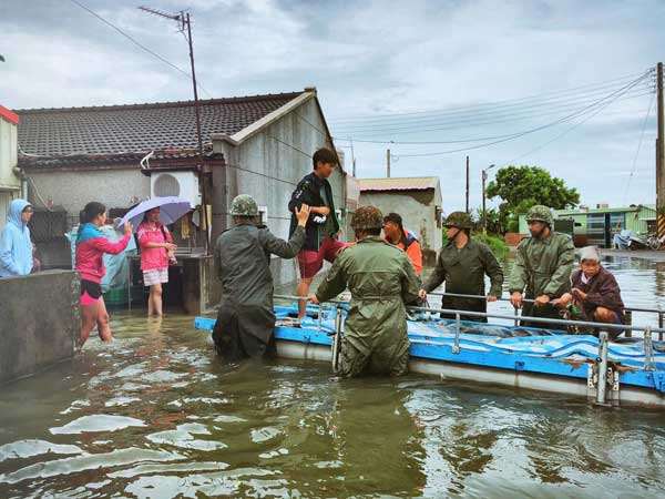 Thousands evacuated as Taiwan floods leave six dead