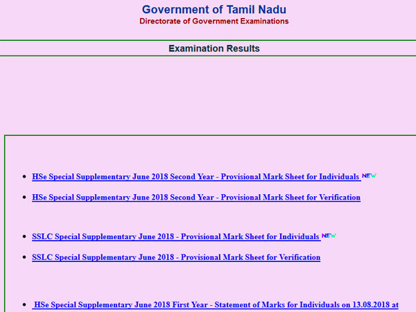 TN Plus One Results 2018 declared, check for RV, RT also