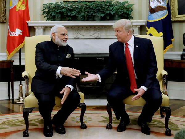 File photo of Prime Minister Narendra Modi with US President Donald Trump