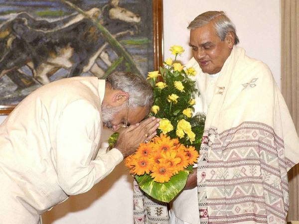 Vajpayee with Narendra Modi