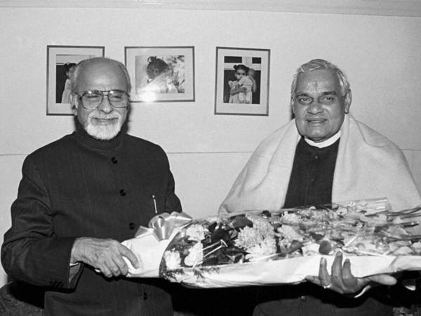 Vajpayee with IK Gujral