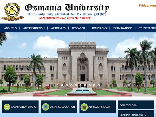 How to check Osmania University degree result 2019