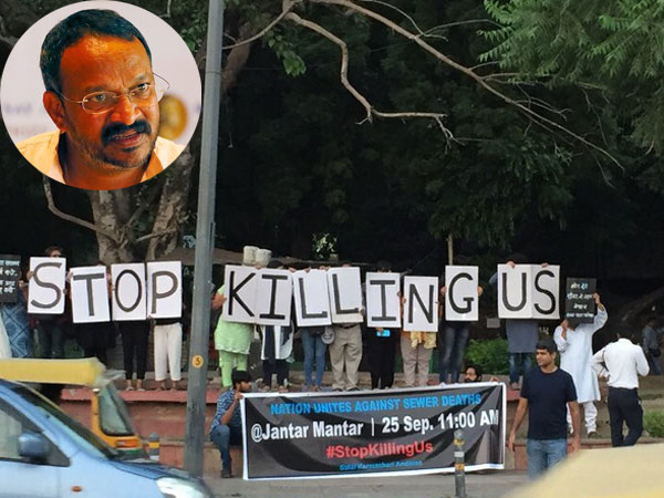 Delhi government in trouble over sanitation worker's death; Wilson to protest on September 25
