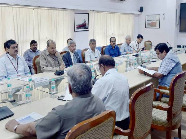 Gadkari chairing a high level meeting on Chabahar Port (File photo)