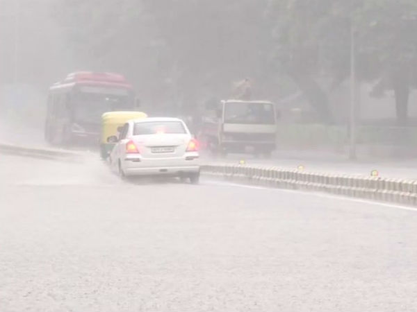 Waterlogging in Gurugram after rains on Sunday