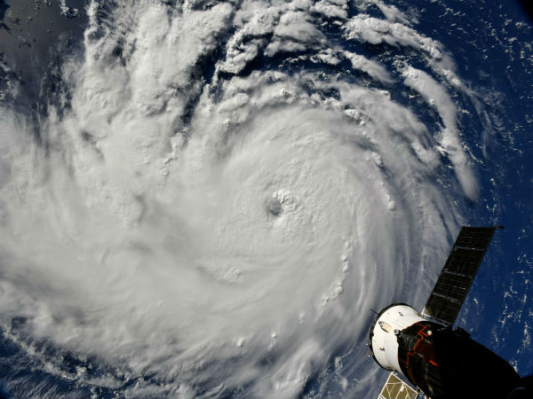 Hurricane Florence view from Space Station