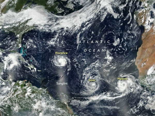 Florence is the most dangerous of three tropical systems