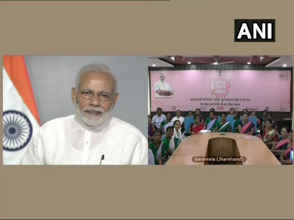 You all are playing role of nation builders, says Modi during interaction with Anganwadi workers