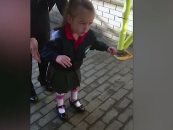 This is an extremely emotional moment in the life of this 4-year-old girl
