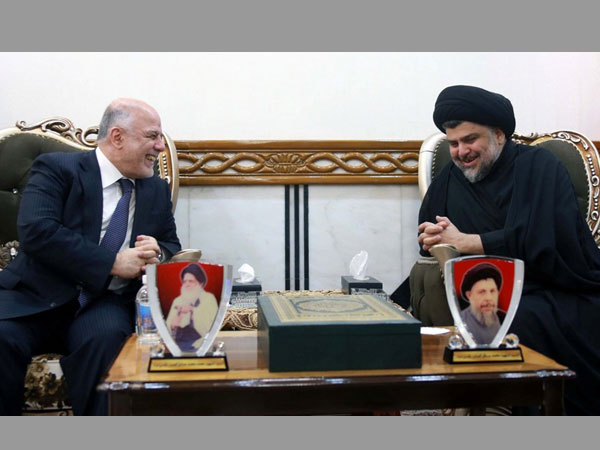 Sadr and Abadi form Iraq's biggest parliamentary bloc