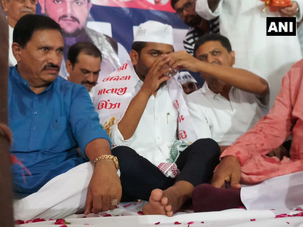 Hardik Patel breaks his indefinite hunger strike after 19 days